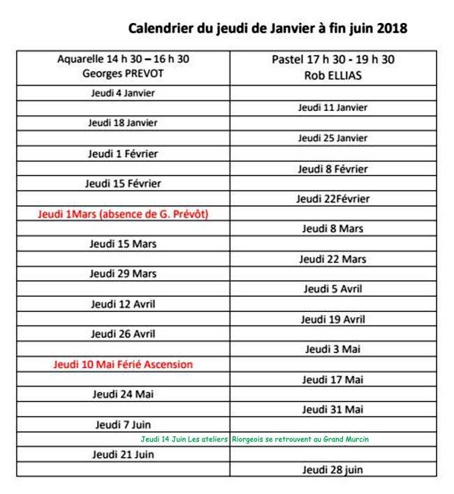 calendrier-2018-Janvier à Juin