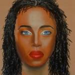 Femme aux cheveux crépus 2